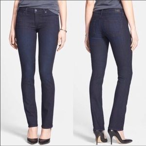 Paige Skyline Straight raw hem dark wash jeans 30